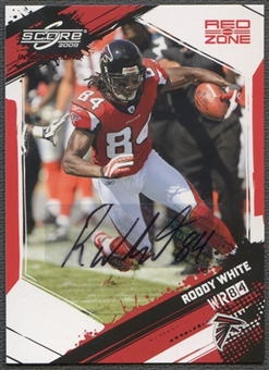 2009 Score Inscriptions #18 Roddy White Red Zone Auto #02/10