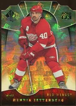 2008/09 Upper Deck SP Authentic Holoview FX Die Cuts #FX57 Henrik Zetterberg