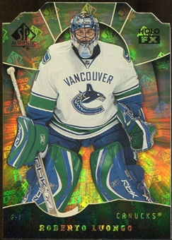 2008/09 Upper Deck SP Authentic Holoview FX Die Cuts #FX82 Roberto Luongo
