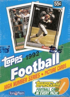 1992 Topps Series 3 Football Wax Box (High #'s)