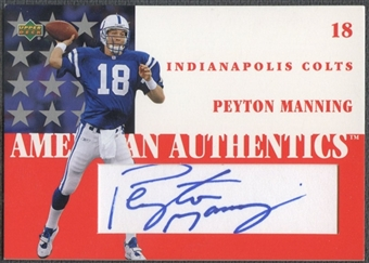 2002 UD Authentics #ST1PM Peyton Manning American Authentics Level 1 Auto