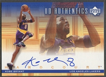 2000/01 Upper Deck Hardcourt #KB Kobe Bryant UD Authentics Auto