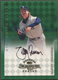 1998 Donruss Signature #65 Randy Johnson Millennium Auto #755/800