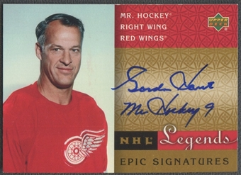 2001/02 Upper Deck Legends #GH Gordie Howe Epic Signatures Auto
