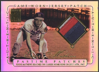 2002 Topps Tribute #EM Eddie Mathews Pastime Patch