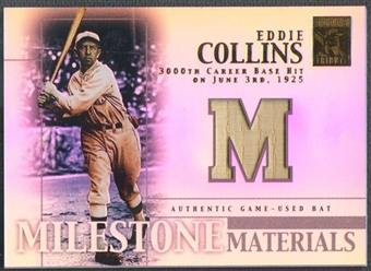 2002 Topps Tribute #EC Eddie Collins Milestone Materials Bat
