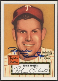 1997 Topps Stars #12 Robin Roberts Rookie Reprint Auto