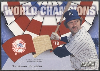 2002 Stadium Club #WCTM Thurman Munson World Champion Relics Bat