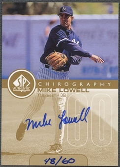 1999 SP Authentic #ML Mike Lowell Chirography Gold Auto #48/60