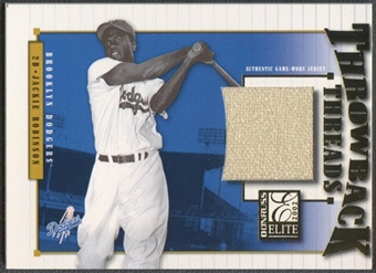 2002 Donruss Elite #41 Jackie Robinson Throwback Threads Jersey #045/100