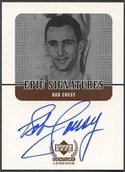 1999 Upper Deck Century Legends #BC Bob Cousy Epic Signatures Auto