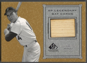 2001 SP Legendary Cuts #BGH Gil Hodges Game Bat SP
