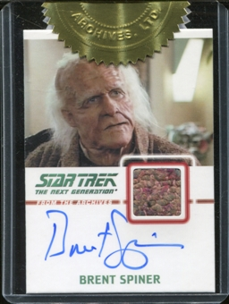 Star Trek: The Next Generation Heroes & Villains Brent Spiner Autograph Relic Card /275