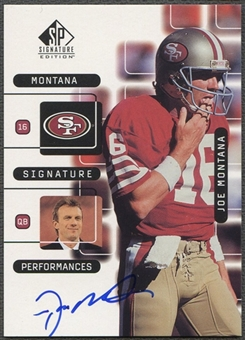 1999 SP Signature #J1A Joe Montana Montana Signature Performances Auto