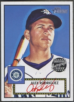 2001 Topps Heritage #THAAR Alex Rodriguez Red Ink Auto #11/52