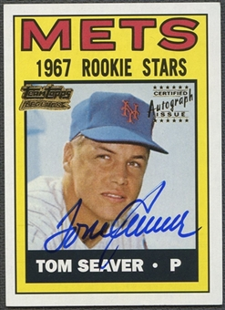 2001 Topps Team #TT11R Tom Seaver Topps Legends Auto