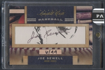 2011 Donruss Limited Cuts #196 Joe Sewell Auto #06/49