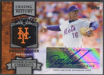2013 Topps #DG Dwight Gooden Chasing History Auto