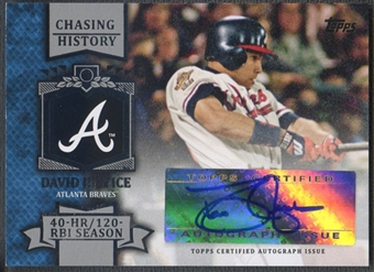 2013 Topps Chasing History #DJ David Justice Auto