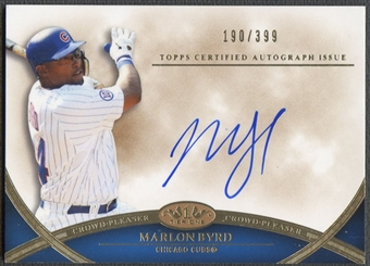 2012 Topps Tier One #MB Marlon Byrd Crowd Pleaser Auto #190/399