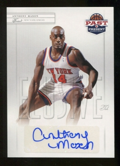 2011/12 Past and Present Elusive Ink Autographs #AM Anthony Mason Autograph