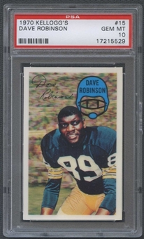 1970 Kellogg's Football #15 Dave Robinson PSA 10 (NM-MT) *5529