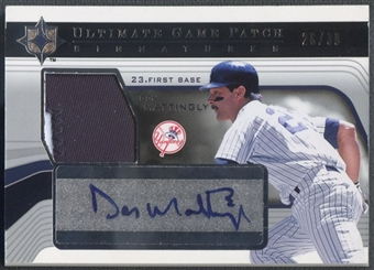 2004 Ultimate Collection #DM Don Mattingly Game Patch Auto #26/30
