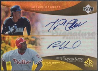 2005 Reflections #MCRH Miguel Cabrera Ryan Howard Dual Signatures Auto