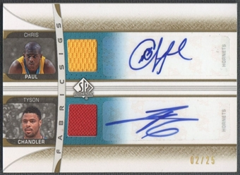 2006/07 SP Authentic #DCP Chris Paul Tyson Chandler Dual Jersey Auto #02/25