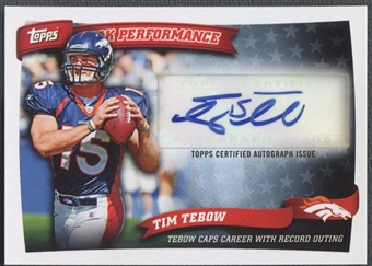 2010 Topps #PPATT Tim Tebow Peak Performance Auto