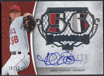 2006 Exquisite Collection #JW Jered Weaver Endorsed Emblems Patch Auto #18/25
