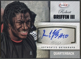 2012 SAGE #A20 Robert Griffin III Rookie Silver Auto
