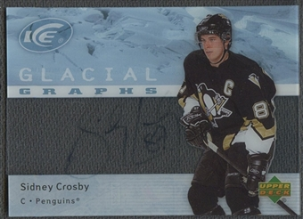 2007/08 Upper Deck Ice #GGSC Sidney Crosby Glacial Graphs Auto SP