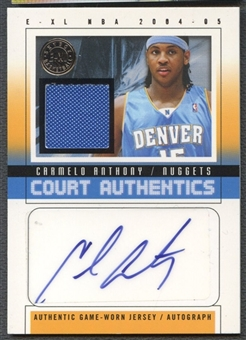 2004/05 E-XL #CA Carmelo Anthony Court Authentics Signatures Jersey Auto #22/70