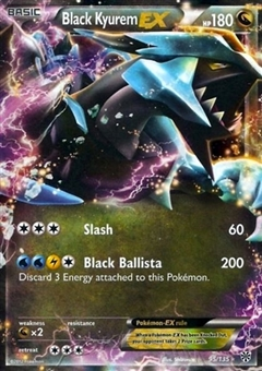 Pokemon Plasma Storm Single Black Kyurem EX 95/135 - NEAR MINT (NM)