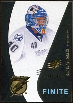 2010/11 Upper Deck SPx Finite Rookies #F3 Dustin Tokarski /499