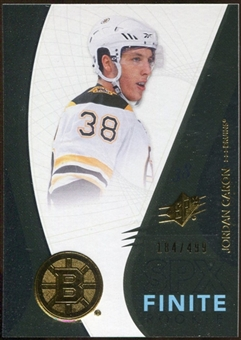 2010/11 Upper Deck SPx Finite Rookies #F8 Jordan Caron /499