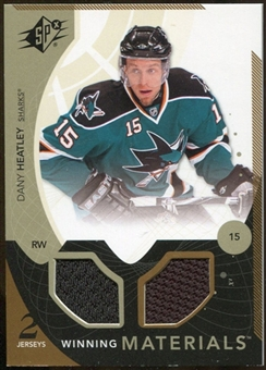 2010/11 Upper Deck SPx Winning Materials #WMDH Dany Heatley