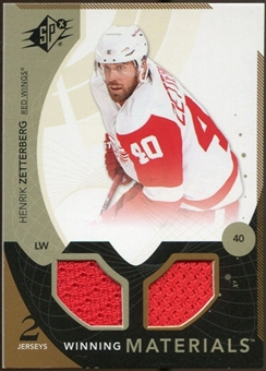 2010/11 Upper Deck SPx Winning Materials #WMHZ Henrik Zetterberg