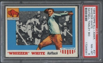 1955 Topps All American #21 Whizzer White (Gaynell Tinsley Bio) PSA 8 *6341
