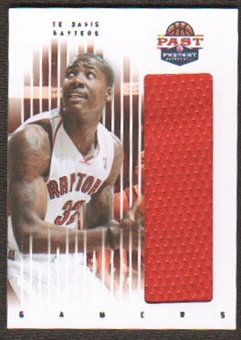 2011/12 Panini Past and Present Gamers Jerseys #12 Ed Davis