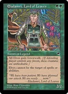 Magic the Gathering Tempest Single Eladamri, Lord of Leaves - SLIGHT PLAY (SP)