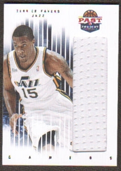 2011/12 Panini Past and Present Gamers Jerseys #32 Derrick Favors