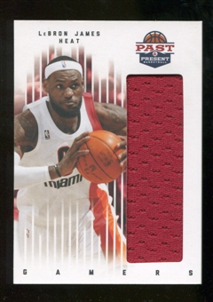 2011/12 Panini Past and Present Gamers Jerseys #53 LeBron James