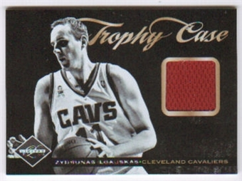 2011/12 Panini Limited Trophy Case Materials #21 Zydrunas Ilgauskas /99