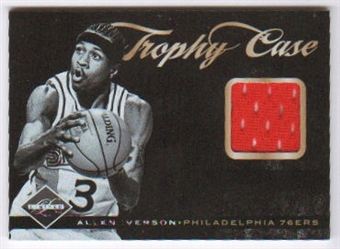 2011/12 Panini Limited Trophy Case Materials #47 Allen Iverson /25