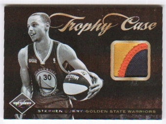 2011/12 Panini Limited Trophy Case Materials Prime #13 Stephen Curry /25
