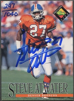 1994 Pro Line Live #4 Steve Atwater Auto #0297/1040