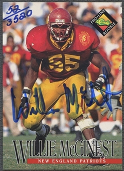 1994 Pro Line Live #86 Willie McGinest Auto #0052/3520