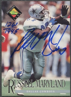 1994 Pro Line Live #87 Russell Maryland Auto #1261/1945